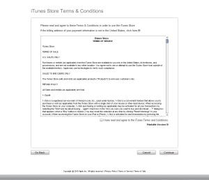Terms of Service for the iTunes App Store.I never read these.Read this if you want to.....