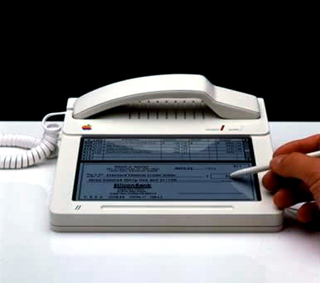Apple's touchscreen phone released(not sure about this) way back in 1983.