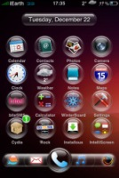 iPhone SpringBoard after Jailbreak (custom themes applied)