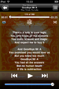 Lyrics on the iPod
