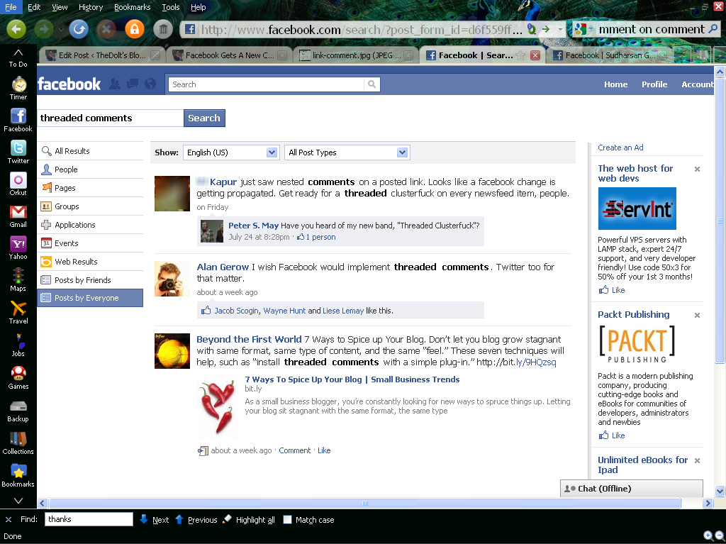 And I am not the only who noticed this change in comment system on Facebook.