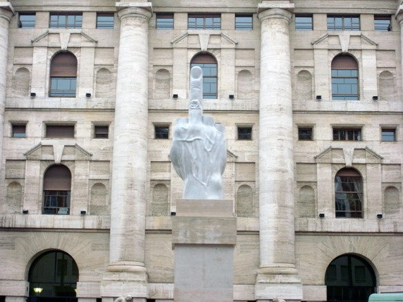 Giant Middle Finger (MIlan) by Maurizio Cattelan