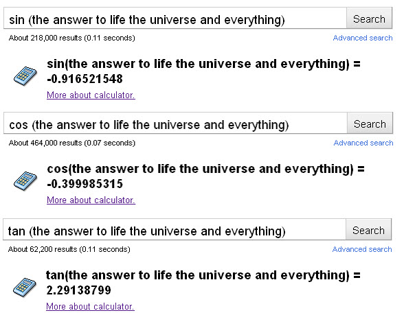 sin cos tan (the answer to life the universe and everything)