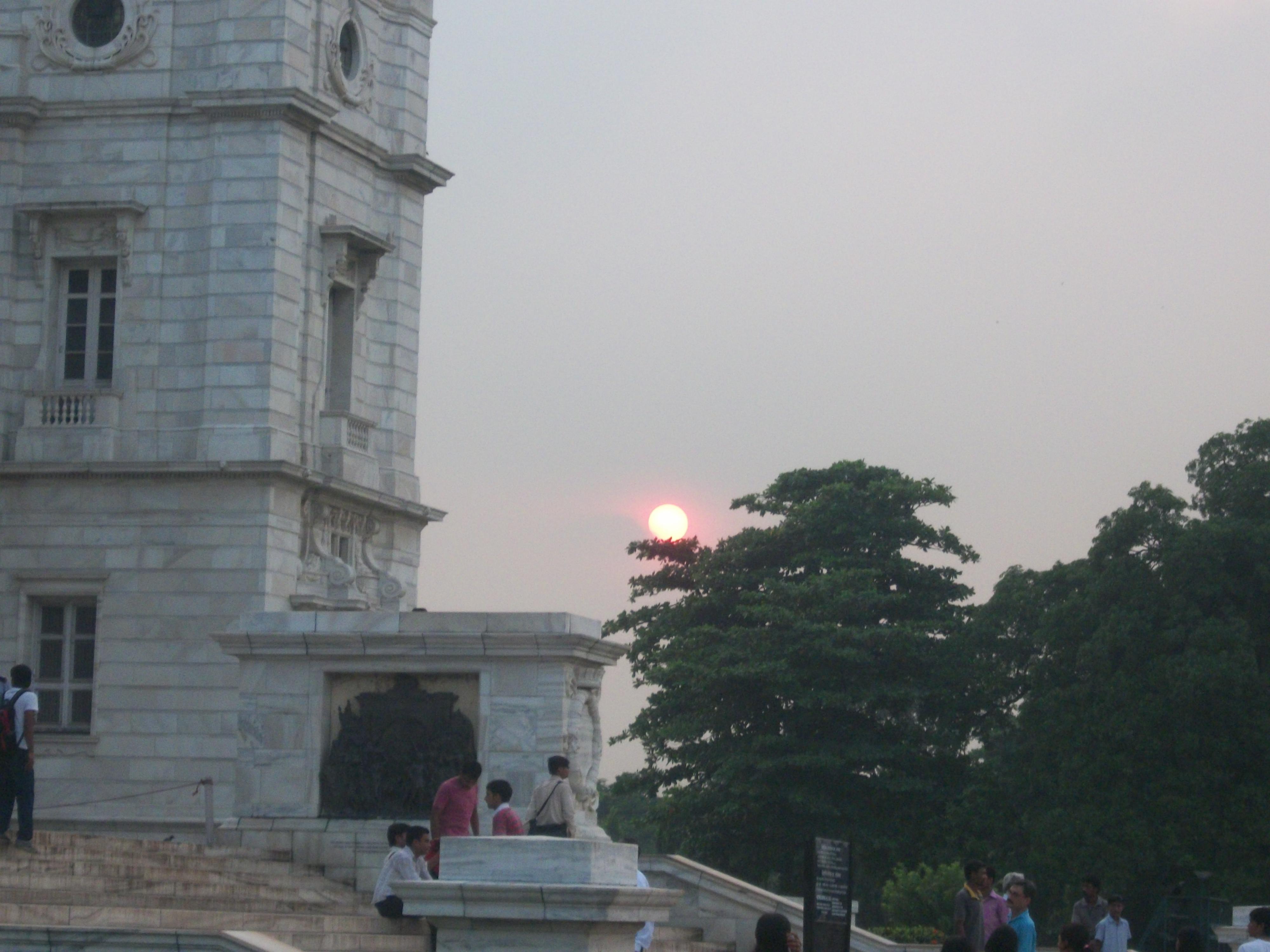 Sunset at Victoria Memorial