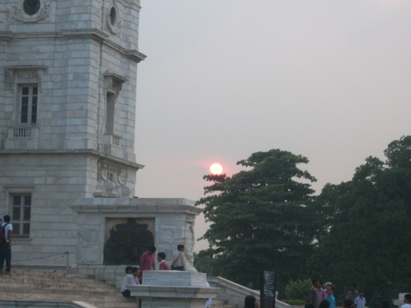Sunset at Victoria Memorial