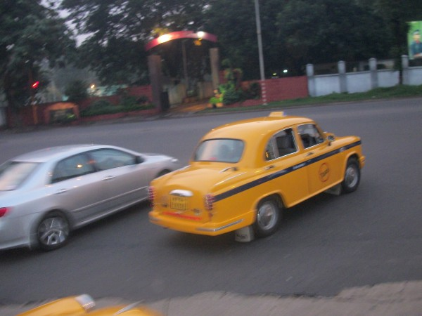 Taxis are more common in Kolkata than auto's are in Delhi. this is also a contrasting example between the rich and the poor there