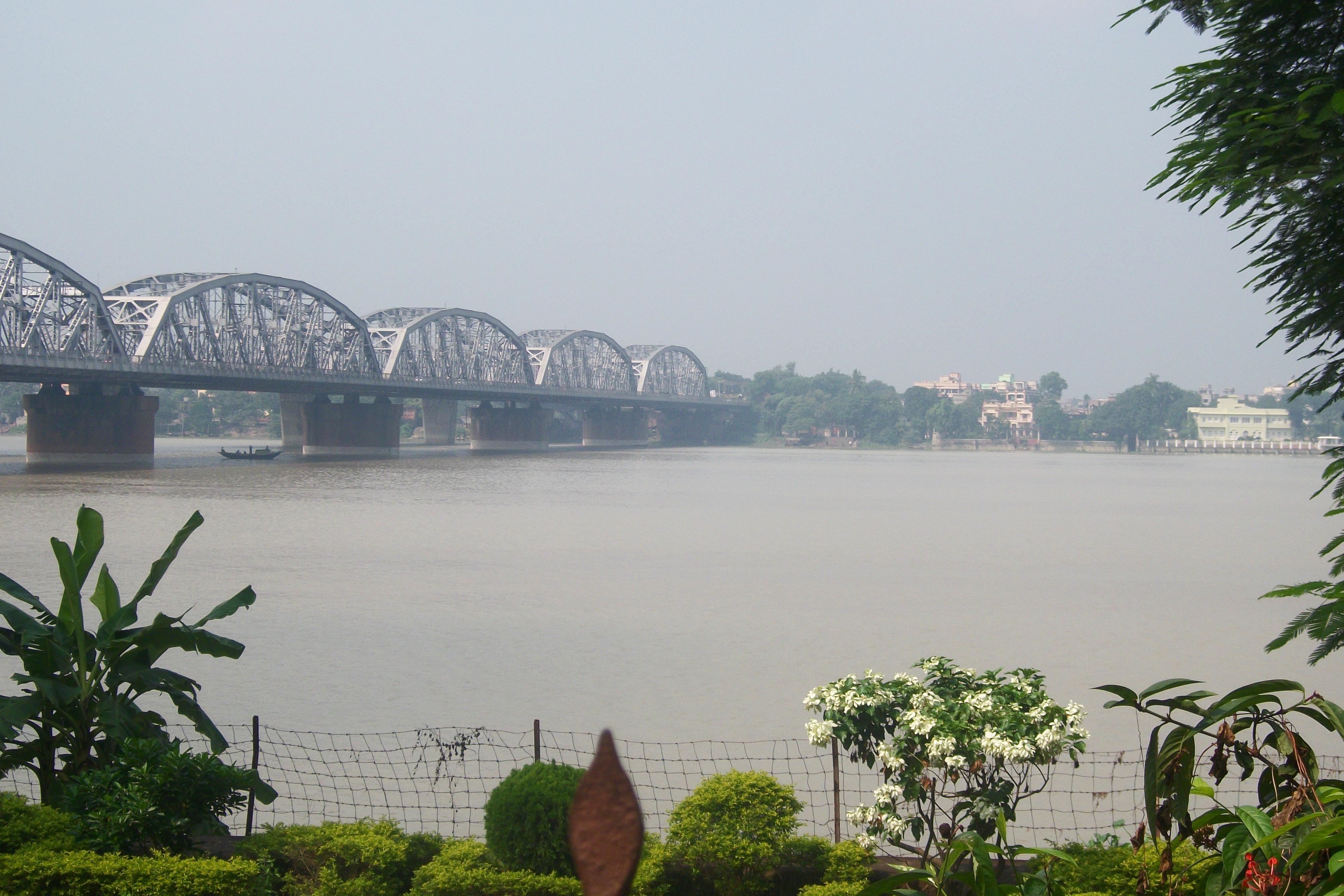 The New Howrah Bridge on the river Hoogly-Kolkata