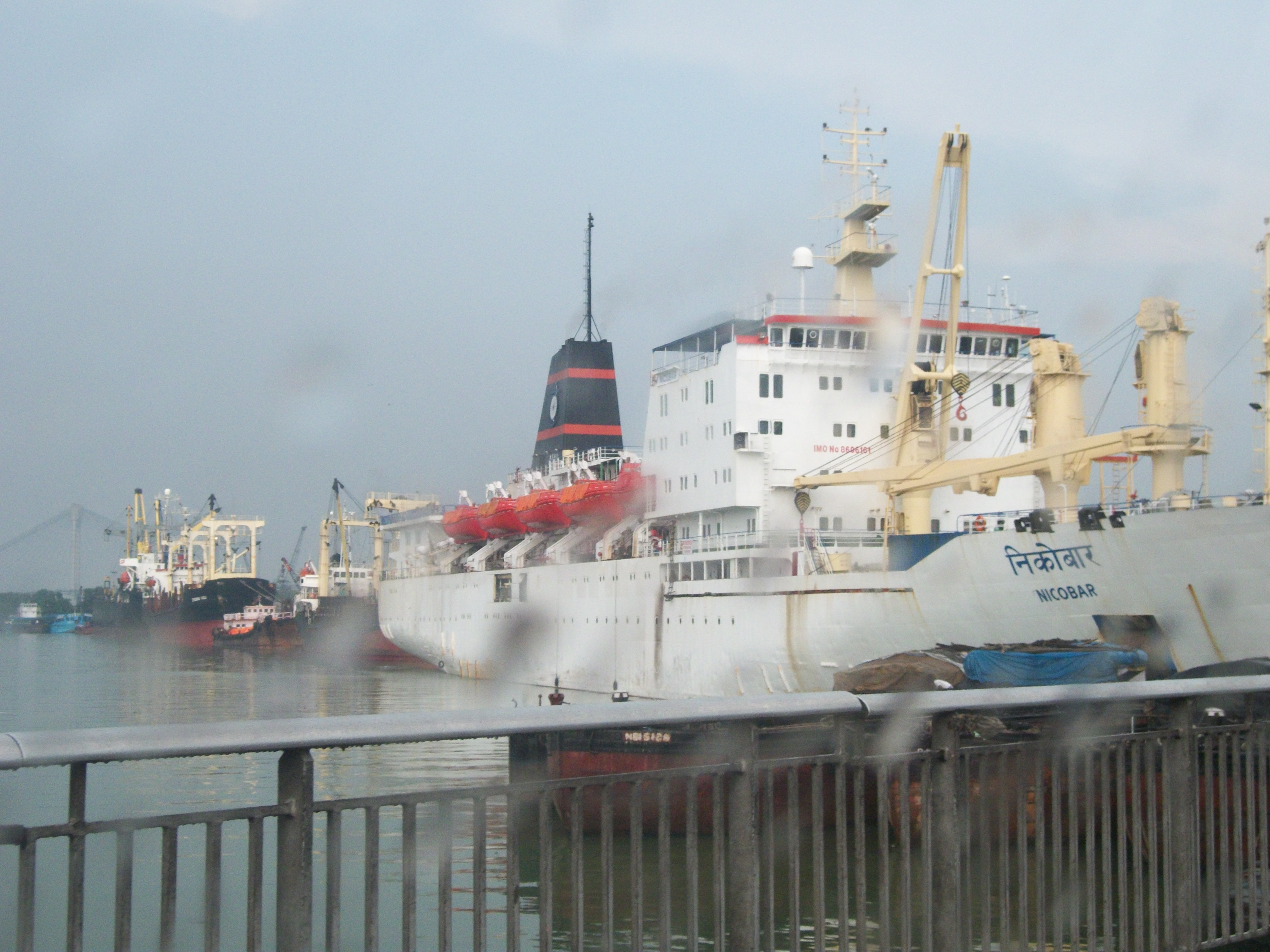 A Nicobar ship at Kolkata's Harbour, I felt like hoping onto it to reach Nicobar early