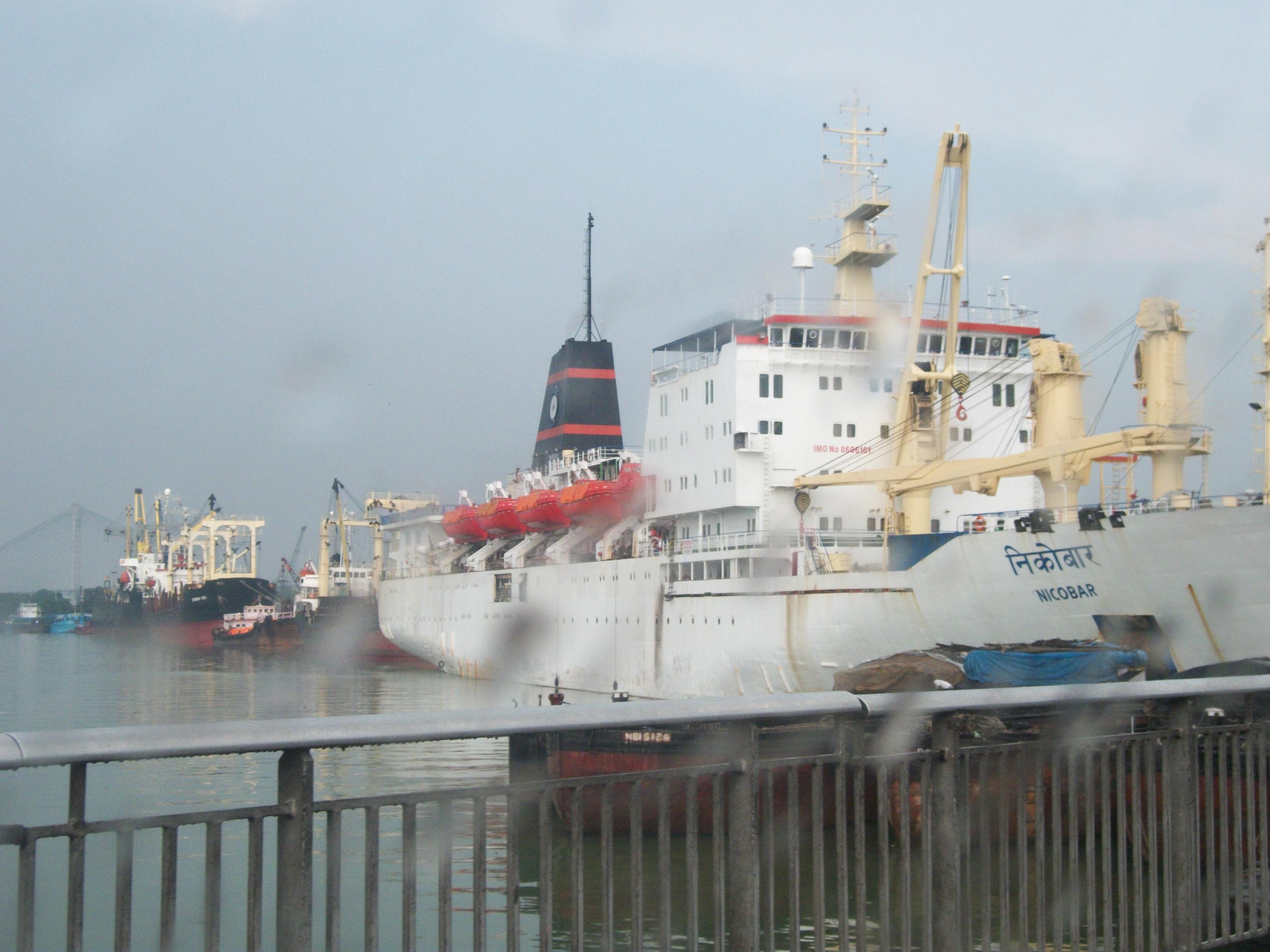 A Nicobar ship at Kolkata's Harbour, I felt like hoping onto it to reach Nicobar early