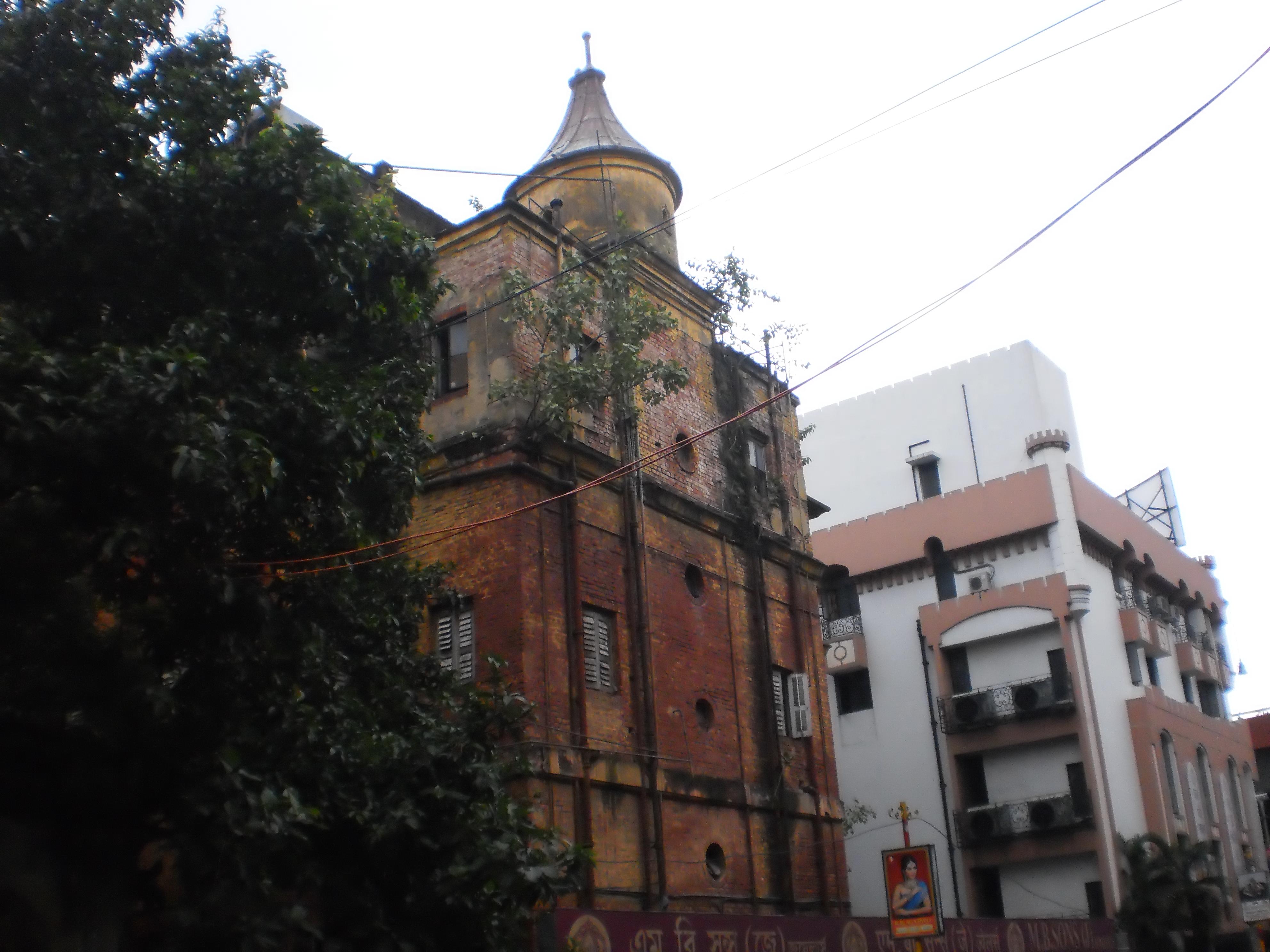 An old building on Esplanade Street-Kolkata