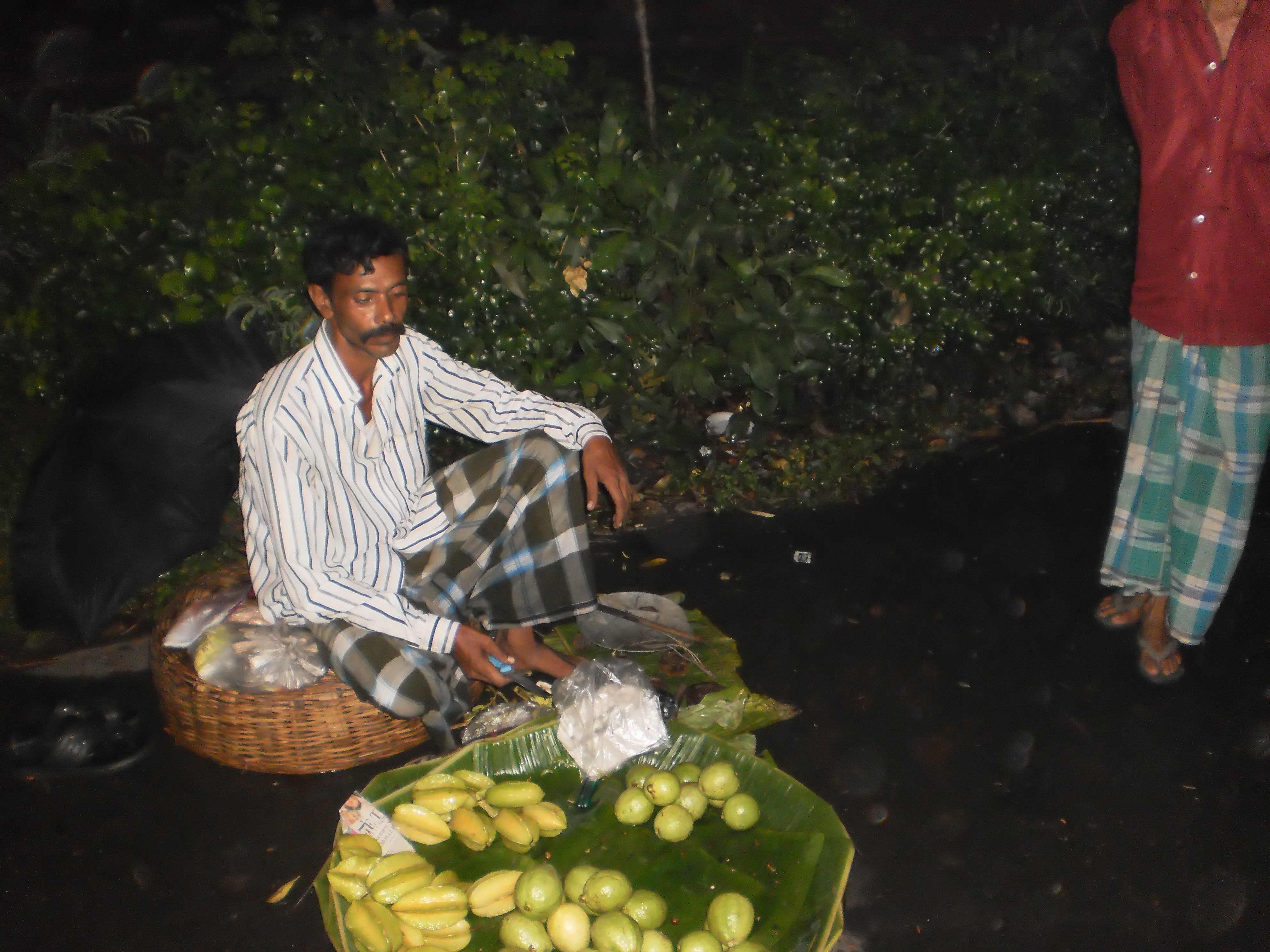 Selling fruits at exorbitantly high prices.